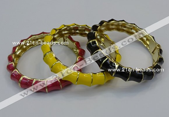 CEB180 14mm width gold plated alloy with enamel bangles wholesale