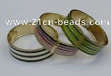 CEB183 20mm width gold plated alloy with enamel bangles wholesale
