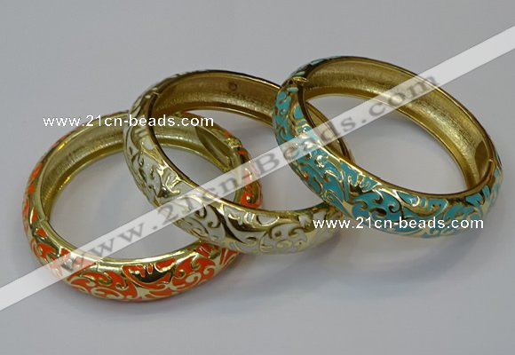 CEB184 15mm width gold plated alloy with enamel bangles wholesale