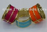CEB187 38mm width gold plated alloy with enamel bangles wholesale