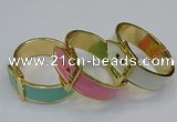 CEB188 27mm width gold plated alloy with enamel bangles wholesale
