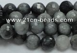 CEE21 15.5 inches 10mm faceted round eagle eye jasper beads wholesale