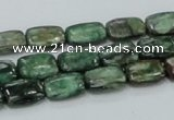 CEM17 15.5 inches 8*12mm rectangle emerald gemstone beads wholesale