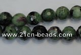 CEP107 15.5 inches 10mm faceted round epidote gemstone beads