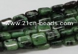 CEP16 15.5 inches 8*10mm rectangle epidote gemstone beads