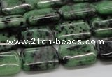 CEP17 15.5 inches 13*18mm rectangle epidote gemstone beads