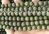 CEP202 15.5 inches 8mm round epidote gemstone beads wholesale