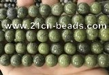 CEP205 15.5 inches 14mm round epidote gemstone beads wholesale