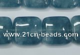 CEQ167 15.5 inches 25*25mm square blue sponge quartz beads