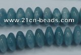 CEQ25 15.5 inches 6*12mm rondelle blue sponge quartz beads