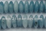 CEQ27 15.5 inches 7*16mm rondelle blue sponge quartz beads