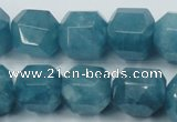 CEQ88 15.5 inches 16*17mm faceted nuggets blue sponge quartz beads
