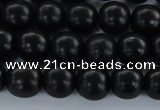 CEY03 15.5 inches 8mm round black ebony wood beads wholesale