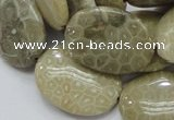CFA12 15.5 inches 22*30mm oval chrysanthemum agate gemstone beads