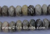 CFA211 15.5 inches 6*12mm faceted rondelle chrysanthemum agate beads