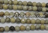 CFA28 15.5 inches 6mm faceted round chrysanthemum agate gemstone beads