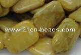 CFA54 15.5 inches 18*24mm rectangle yellow chrysanthemum agate beads