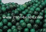 CFA67 15.5 inches 8mm round green chrysanthemum agate beads