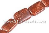 CFC39 15 inches 13*18mm rectangle fossil coral beads Wholesale