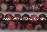 CFE02 15.5 inches 5mm round natural Brazilian fowlerite beads