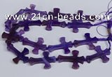 CFG1232 15.5 inches 32*45mm - 35*48mm cross dragon veins agate beads