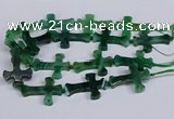 CFG1235 15.5 inches 32*45mm - 35*48mm cross dragon veins agate beads