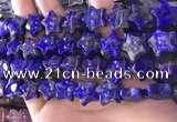 CFG1302 15.5 inches 15mm carved star lapis lazuli gemstone beads