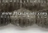 CFG1501 15.5 inches 15*20mm carved rice smoky quartz beads
