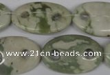 CFG306 15.5 inches 20*30mm carved oval peace stone beads