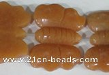CFG520 15.5 inches 30*38mm carved animal red aventurine beads