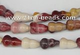 CFG61 15.5 inches 8*13mm carved calabash mookaite gemstone beads