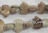 CFG780 15.5 inches 10*15mm carved animal jasper beads