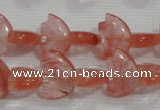 CFG785 15.5 inches 10*15mm carved animal cloudy quartz beads
