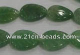 CFG818 12.5 inches 15*20mm carved leaf green aventurine beads wholesale