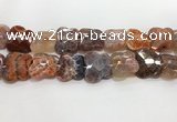 CFG974 15.5 inches 30*33mm carved butterfly fire agate beads