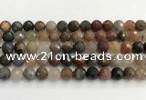 CFJ219 15.5 inches 10mm faceted round fancy jasper beads