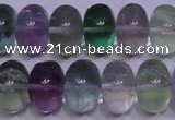 CFL1071 15 inches 10*16mm rondelle natural fluorite gemstone beads