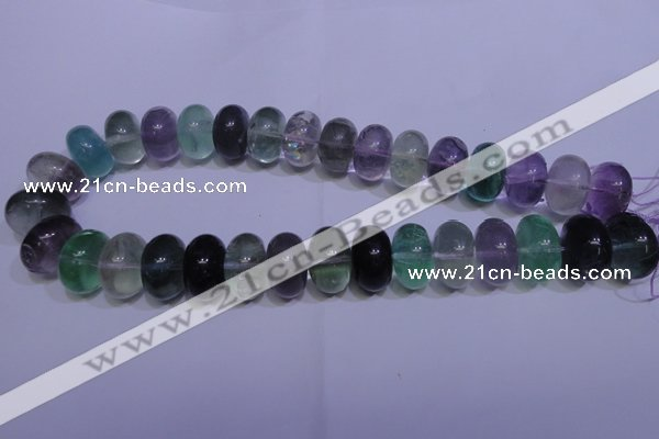 CFL1073 15 inches 12*20mm rondelle natural fluorite gemstone beads
