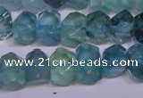 CFL1088 15 inches 9*14mm faceted nuggets blue fluorite beads