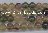 CFL1101 15.5 inches 6mm round yellow fluorite gemstone beads