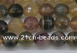 CFL1114 15.5 inches 12mm faceted round yellow fluorite gemstone beads