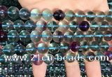 CFL1132 15.5 inches 10mm round fluorite gemstone beads wholesale