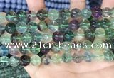 CFL1153 15.5 inches 10mm round fluorite gemstone beads