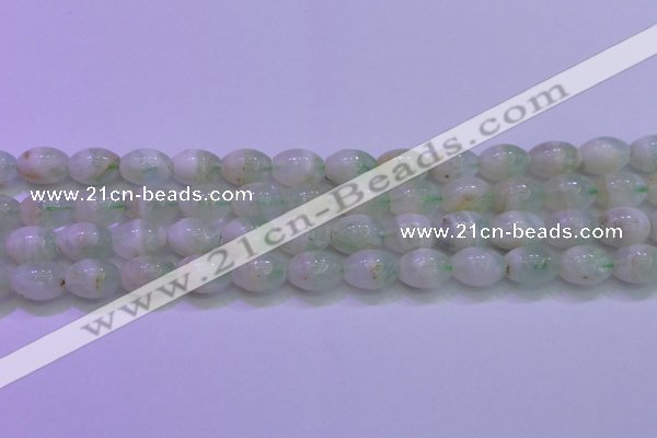 CFL1202 15.5 inches 10*14mm rice green fluorite gemstone beads
