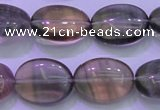 CFL1341 15.5 inches 12*16mm oval purple fluorite gemstone beads