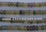 CFL140 15.5 inches 3*6mm faceted rondelle yellow fluorite beads