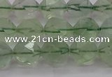 CFL1404 15.5 inches 12mm faceted nuggets green fluorite beads