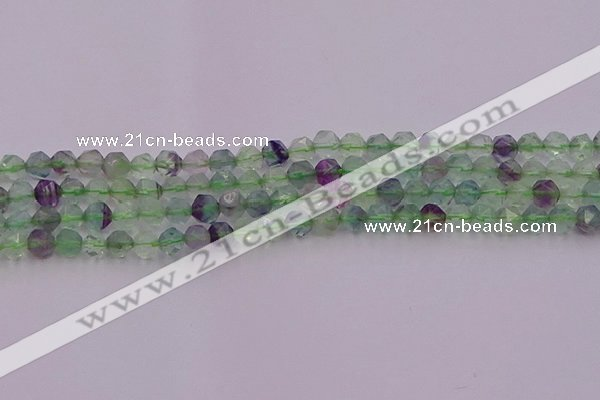 CFL1406 15.5 inches 6mm faceted nuggets fluorite gemstone beads
