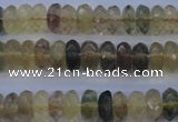 CFL142 15.5 inches 5*10mm faceted rondelle yellow fluorite beads