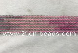 CFL1488 15.5 inches 4mm round rainbow fluorite gemstone beads